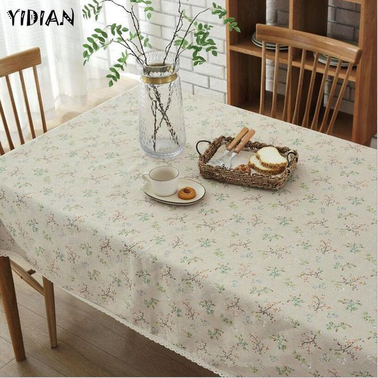 yidian high quality plant printed table cloth decorative elegant table cloth linen table cover dining table