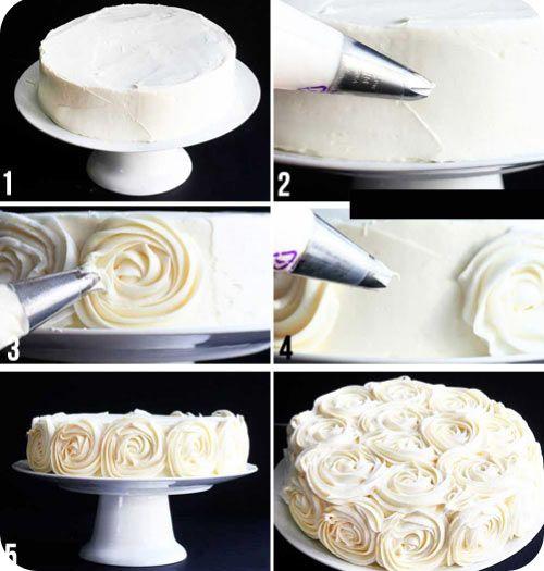 Фото как украсить торт шприцом