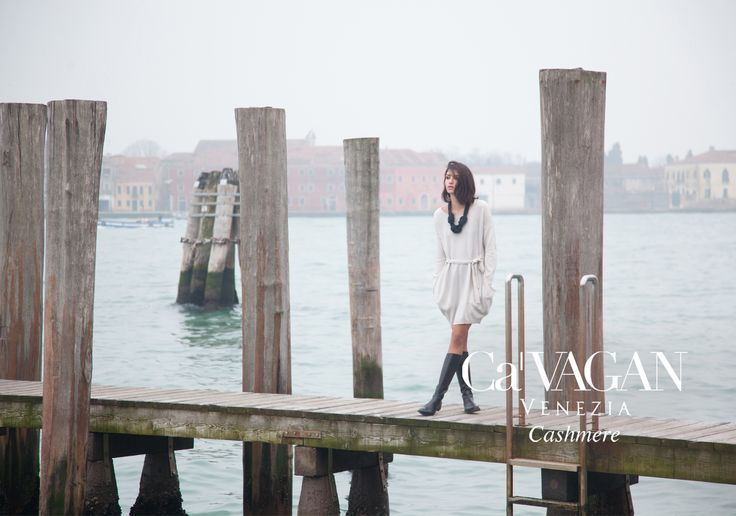 Fall Winter 2014-2015 ADV Campaign elegance, refinement, details  #cashmere #knitwear #fashion #venice  #women's clothing Follow on www.cavagan.it