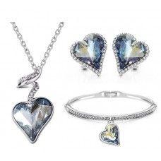 Swarovski Crystal Rain Jewelry Set. Made with Swarovski elements. Get 10% off code: Swa-074