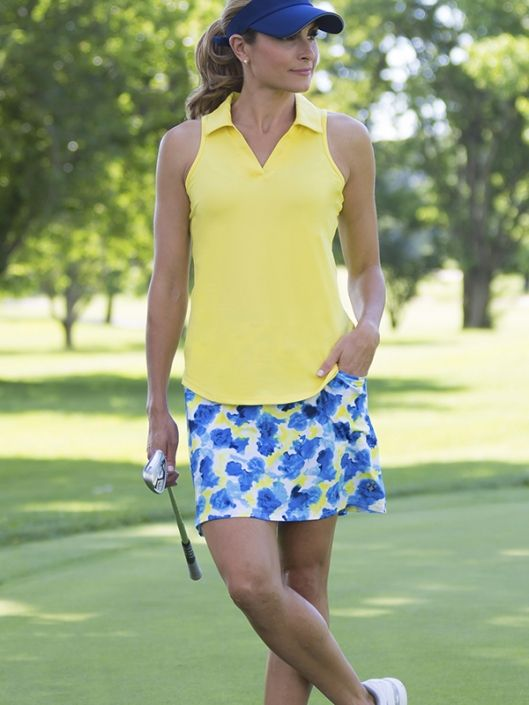Check out what #lorisgolfshoppe has for your days on and off the golf course: Limoncello JoFit Ladies & Plus Size Golf Outfits (Sleeveless Shirt & Skort)