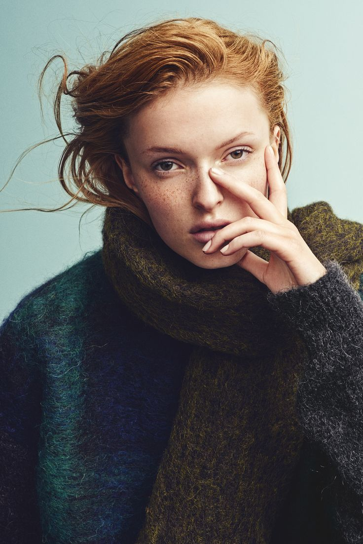 Holzweiler AW15 Collection - Fresia Solid Olive Scarf + Fresia Blackwatch Sweater