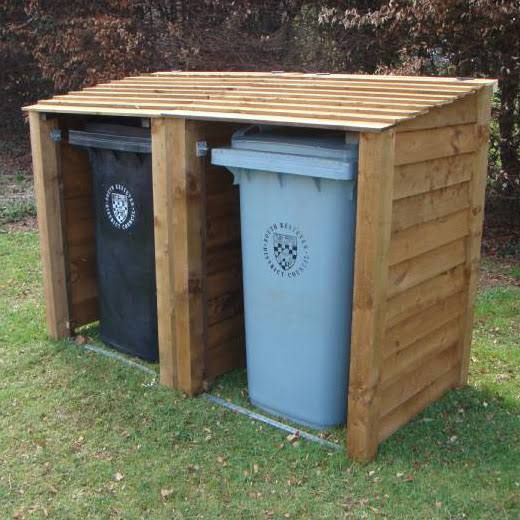 Rutland County Garden Furniture DBSC1 Rutland Double Wheelie Bin and  Recycling Store Combo. 9 best Shed images on Pinterest   Bin storage  Bike store and