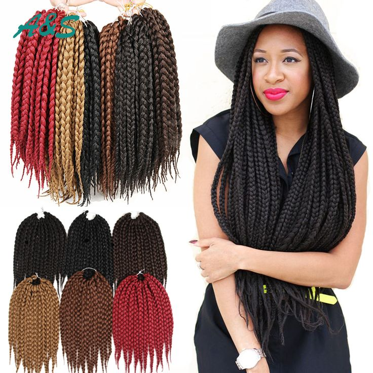 Crochet Hair Montreal : Bulk Hair Information about 12 box braids hair crochet braid hair ...