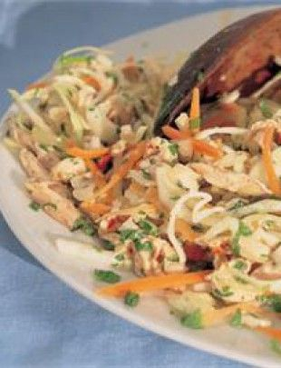 Vietnamese Chicken & Mint Salad - Nigella Lawson - this is AWESOME, let it sit overnight in fridge for the best flavor!
