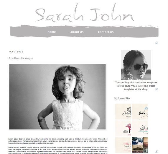 Light Black  Premade Blogger Template   Instant by Symufathemes, $25.00