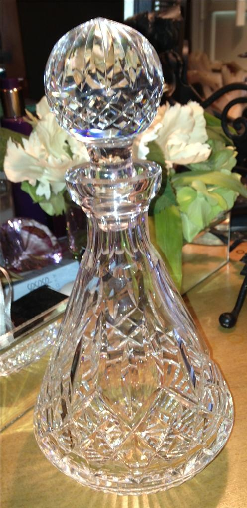 Waterford Crystal Lismore Roly Poly Decanter with Stopper Excellent Condition