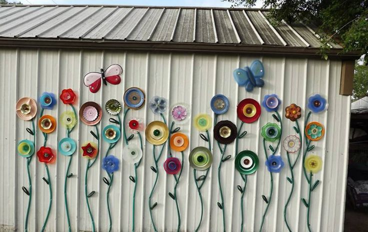 Plate and Hose Garden Flowers