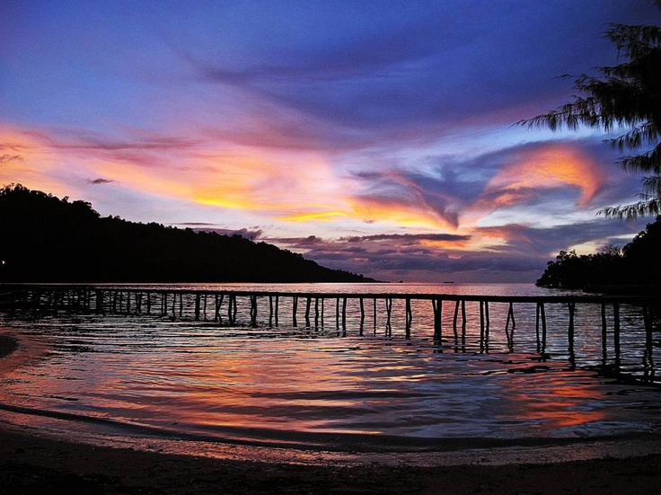 Sunset at Togean Islands