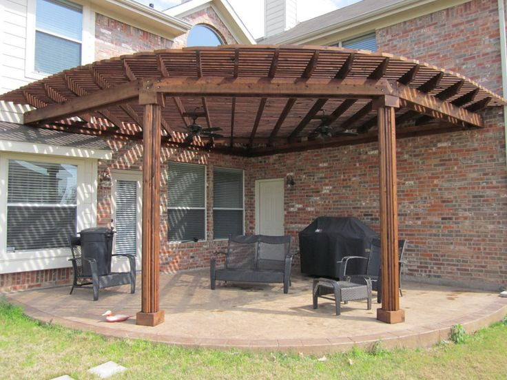 Corner pergola with fans pergola pinterest mom for Deck arc x arene 7