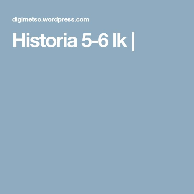 Historia 5-6 lk |