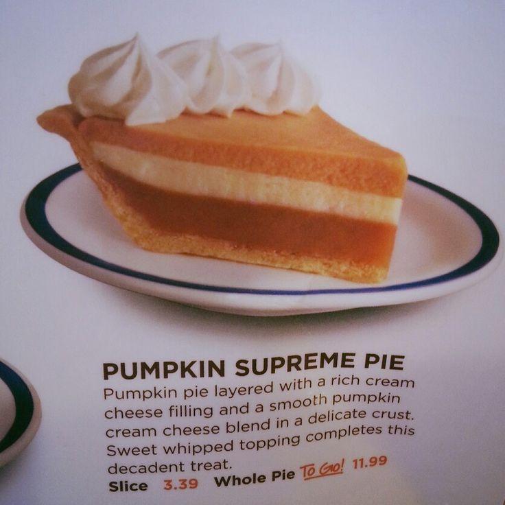 Pumpkin Supreme Pie From Bob Evans Recipes Pinterest