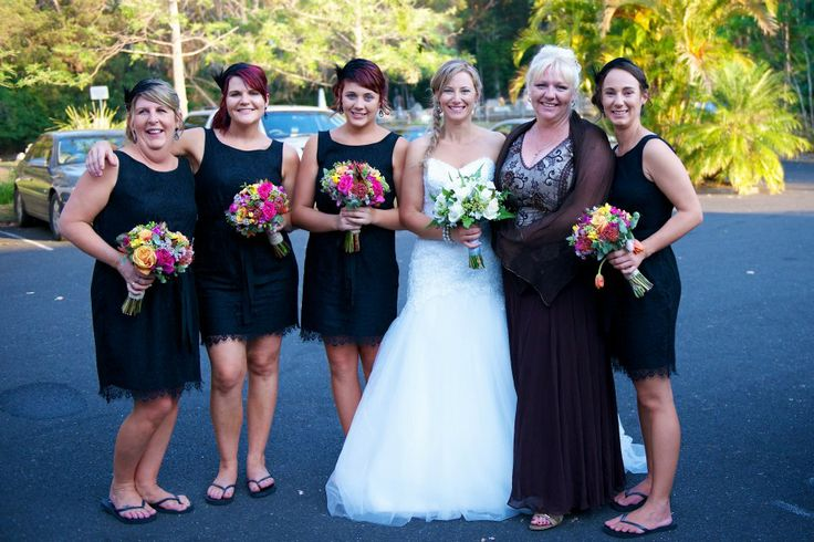 The Stunning Kellie and her bridal party