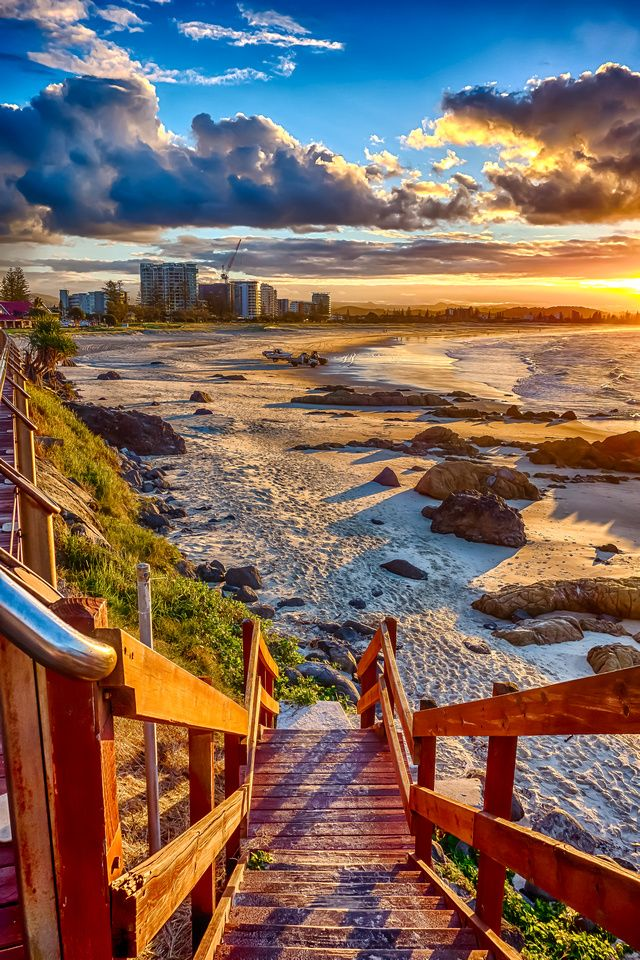 Come with me to Kirra beach