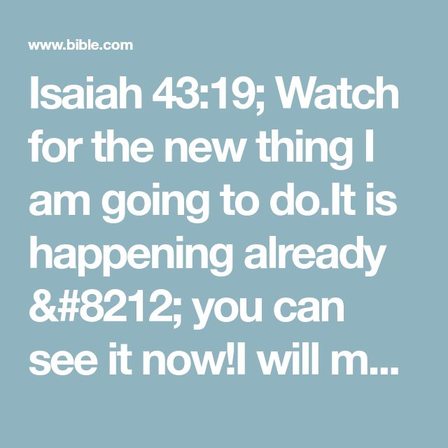 Bible Am Going To Deliver You: Best 25+ Isaiah 43 19 Ideas On Pinterest
