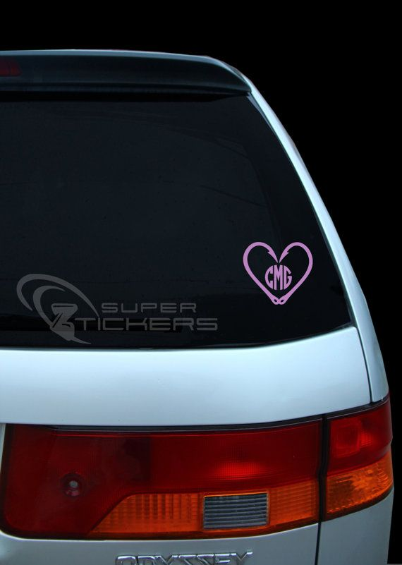 Best Monogrammed Decals Images On Pinterest - Monogram decal for car window