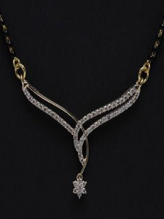 Exquisite And Dazzling Diamond Mangalsutra For World's Best Wife. Let This Be Your Souvenir Of Love.