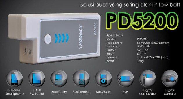 Power Bank Dazumba PD 5200 - Simpel, Mudah dan Praktis | MauOrder.Com