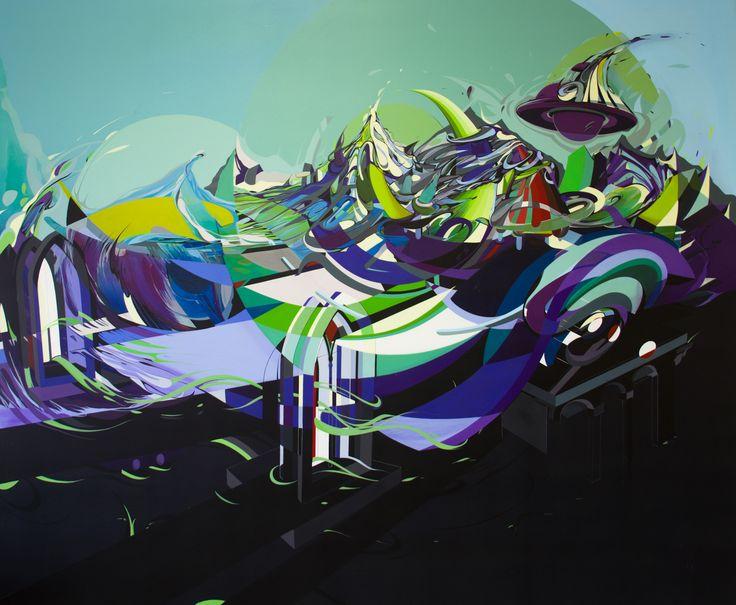 180x150 cm acryl and oil on canvas