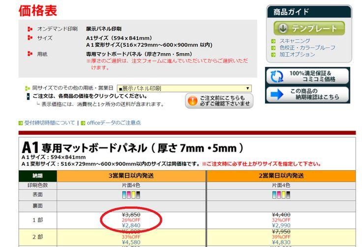 A1サイズパネル印刷が【1,840円】で出来る!プリントパックを使ったウェルカムボードの作り方*にて紹介している画像