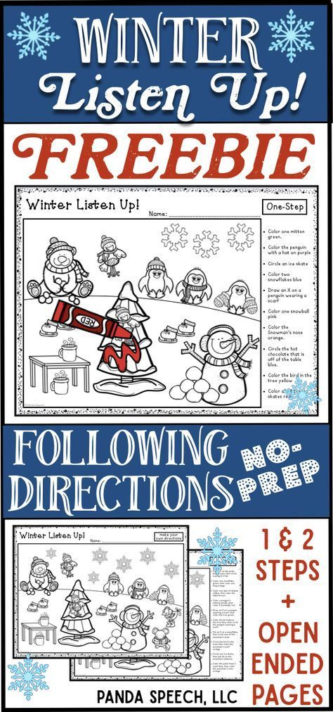 Free following directions activity with different levels!