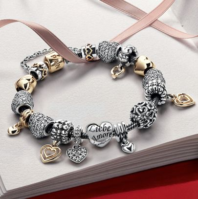 one of denmarks jewelry brands pandora known for the pandora bracelets and charms - Pandora Valentine Bracelet