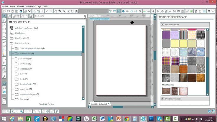 comment enregistrer des motifs de remplissage en modèle sur silhouette s...