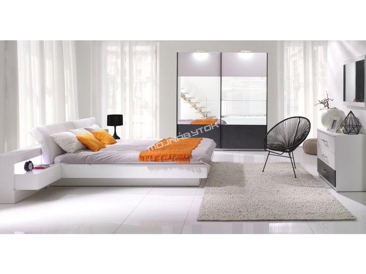 Nadčasová spálňa RENATO sa vyrába v dvoch farebných prevedeniach biela / betón a…