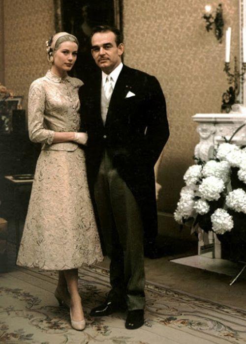 Grace Kelly Civil Wedding   Brides.com