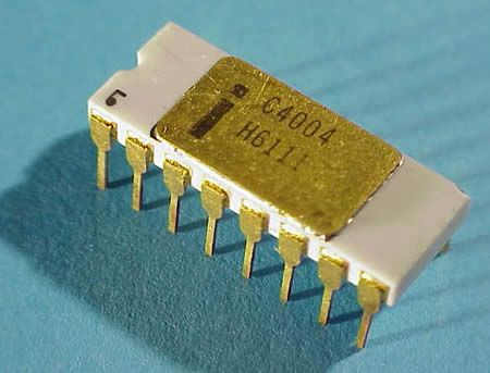 In November 1971, Intel publicly introduced the world's first single chip microprocessor, the Intel 4004 (U.S. Patent #3,821,715), invented by Intel engineers Federico Faggin, Ted Hoff, & Stan Mazor. After the invention of integrated circuits revolutionized computer design, the only place to go was down - in size that is,  placing all the parts that made a computer think (i.e. central processing unit, memory, input and output controls) on one small chip.