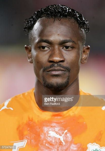 Alain Didier Deguy Zokora of Ivory Coast prior to The African Cup of Nations Final between Egypt and Ivory Coast at The Cairo International Stadium...