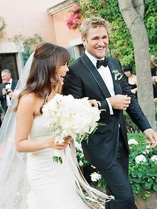 Aussie chef Curtis Stone and 'Lipstick Jungle' actress Lindsay Price's wedding at the 5-star Hilton Sa Torre Mallorca Resort in Spain, June 2013. The festivities were held over 4 days and included an evening ceremony, dancing under the stars and a day out on the Mediterranean Sea. Stone baked Price's favourite wedding cake - carrot. Their son Hudson is one.