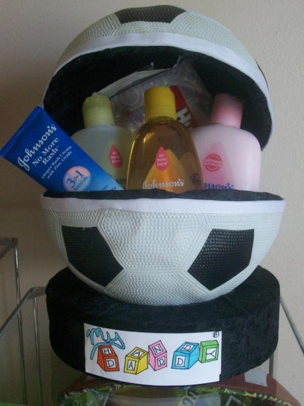 Baby Shower Gift for Soccer Fan!  www.MyHandyDaddy.com