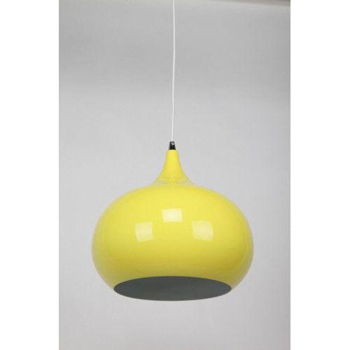 She Lights Kirke 1 Light Pendant in Luminous Yellow