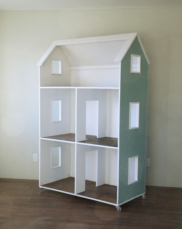 "Ana White | Build a Three Story American Girl or 18"" Dollhouse 