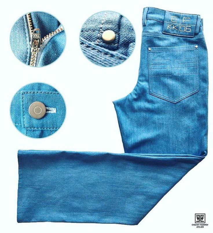 Светло-голубые джинсы безусловный тренд весенне-летнего сезона уже несколько лет подряд. В нашем ателье мы с большим удовольствием сошьем джинсы с идеальной посадкой, используя высококачественную ткань и фурнитуру. Обращайтесь по Тел. -Viber-WhatsApp-Telegram +38(093)979-88-77