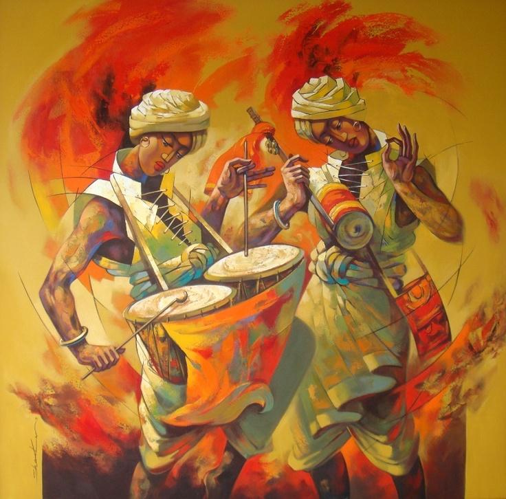 This great piece of art by Shankar Gojare just got sold through IndianArtCollectors.