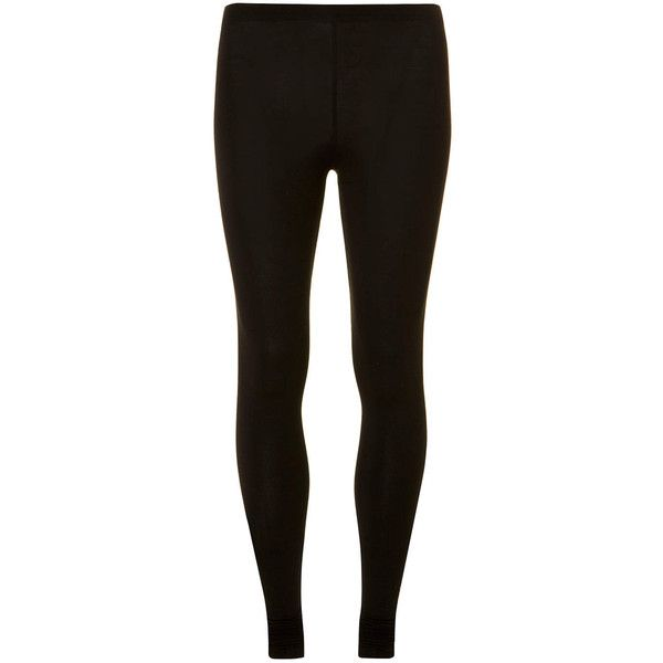 Dorothy Perkins Black Leggings ($14) ❤ liked on Polyvore featuring pants, leggings, bottoms, jeans, black, ankle length leggings, elastic waist pants, cotton pants, elastic waistband pants and ankle length pants