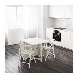 IKEA - NORDEN, Mesa abas rebatív/pernas articul, Mesa com abas rebatíveis para 2-4 pessoas; permite adaptar o tamanho da mesa de acordo com as suas necessidades.6 práticas gavetas sob o tampo para guardar, por exemplo, talheres, guardanapos e velas.