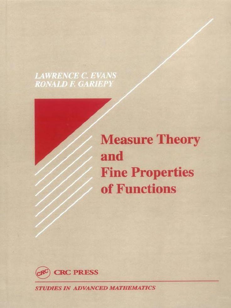 Resultado de imagen de measure theory and fine evans