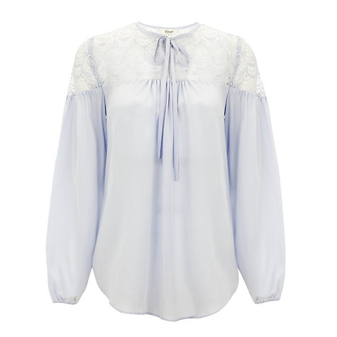 Buy Somerset by Alice Temperley Lace Blouse, Pale Blue