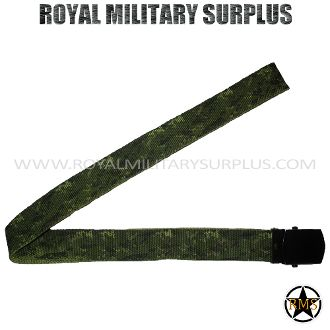 "Belt - Tactical (1.25"") - CADPAT (Temperate Woodland) - 6,95$ (CAD) - CADPAT TW (Disruptive Camouflage Digital Pattern) Canada Armed Forces Camouflage – 4 Colors Made following Military Specifications 100% Nylon Metal Buckle (Slide/Claw Clamps) Fully Adjustable (Precise and Solid for all Sizes) One Size: 50""x 1.25"" (127 CM x 3.5 CM) BRAND NEW WWW.ROYALMILITARYSURPLUS.COM"