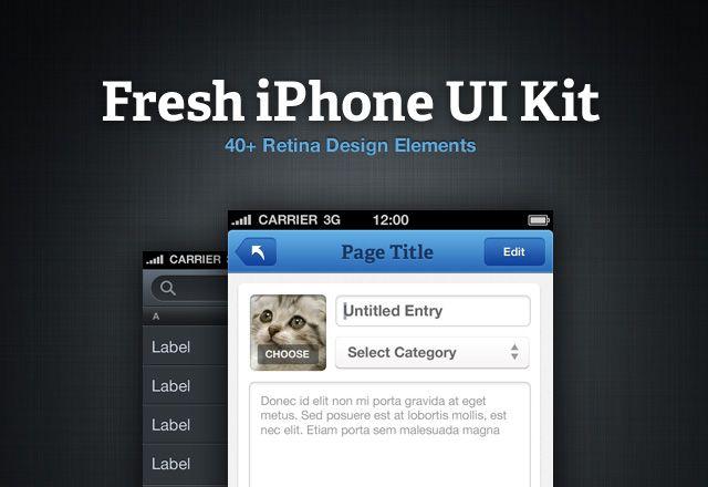 Medialoot - Fresh iPhone UI Kit