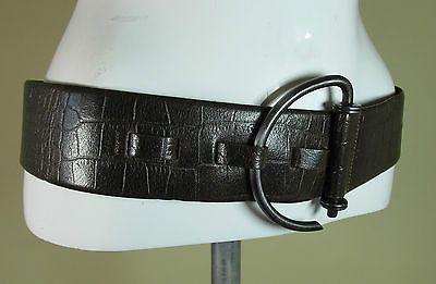 Stephen Collins brown moc croc wide leather fashion belt M/L R14964 #style #fashion #love #woman #chic #eBay #BELT #sangriasuzie