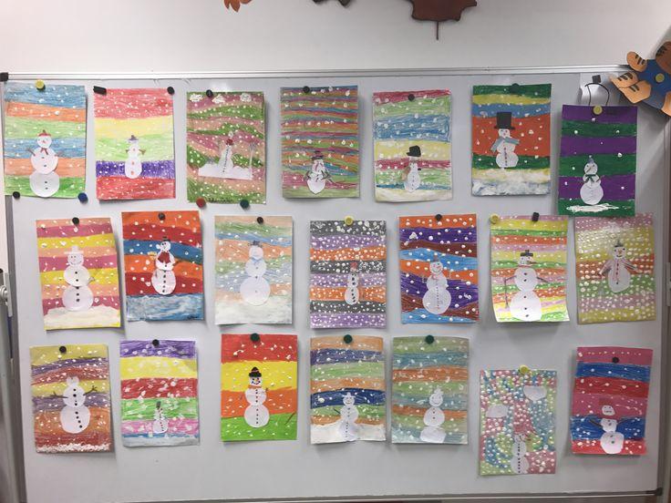 Hóemberek #snowman #education #artschool #studentlife #oktatás #művészet #grafika