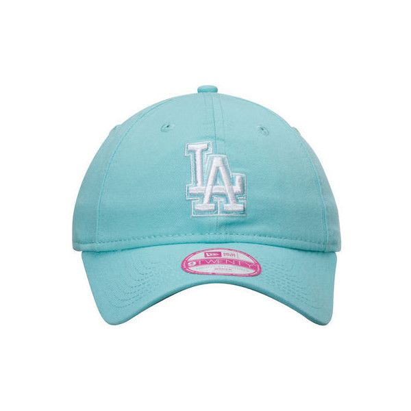 Women's Los Angeles Dodgers New Era Mint Preferred Pick 9TWENTY... ($20) ❤ liked on Polyvore featuring accessories, hats, major league baseball hats, adjustable hats, mlb hats, la dodgers hat and los angeles dodgers hats