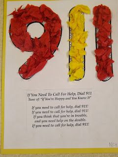 9-1-1 Song and Craft for Fire Safety Week