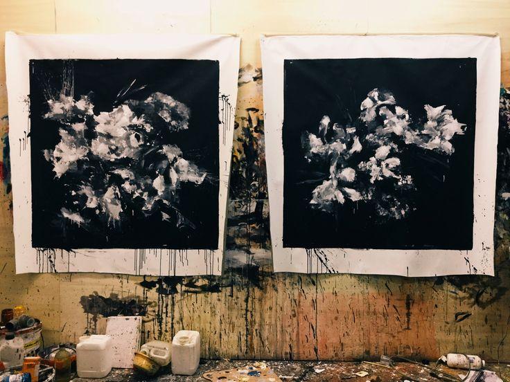 LCVK | Flowers | acrylic on canvas | 130x130 |2016