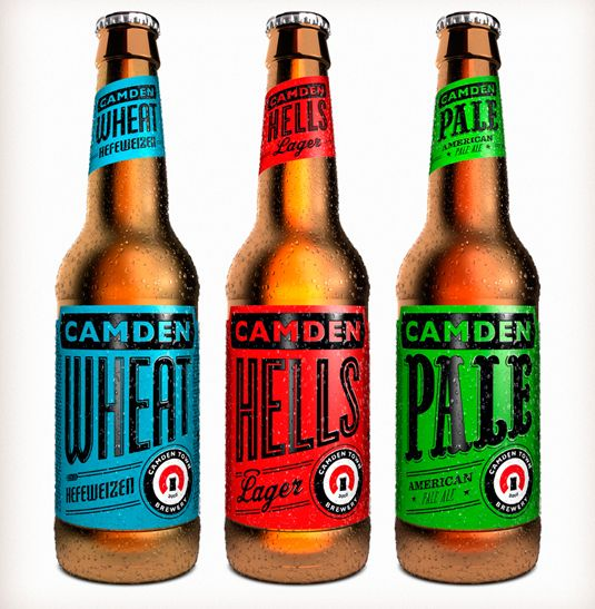 More great branding with simple typographic changes for styles. camdentownbrewery.jpg 535×547 pixels