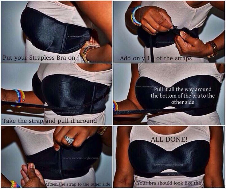 I've always wondered how to keep strapless bras from falling down.